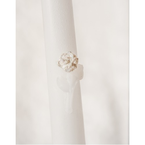 Gitter Rose Wedding Candle Tapers