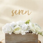 Gold Calligraphy Table Numbers (7-12)